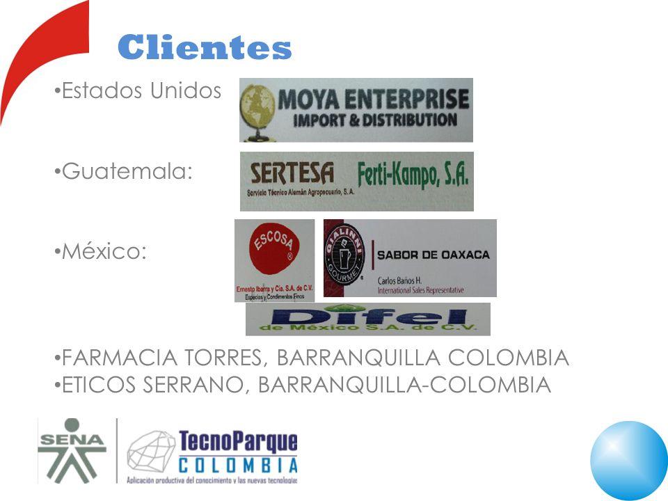 Clientes Estados Unidos Guatemala: México:
