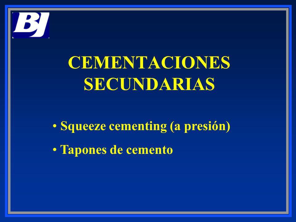 CEMENTACIONES SECUNDARIAS
