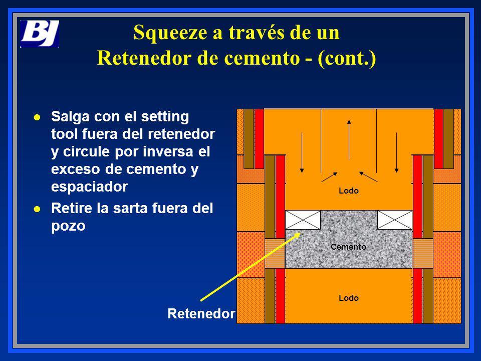 Squeeze a través de un Retenedor de cemento - (cont.)