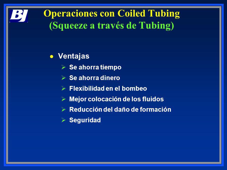 Operaciones con Coiled Tubing (Squeeze a través de Tubing)