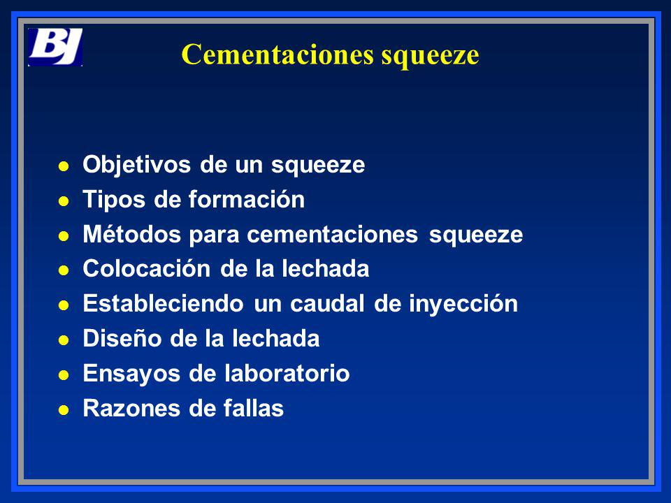 Cementaciones squeeze
