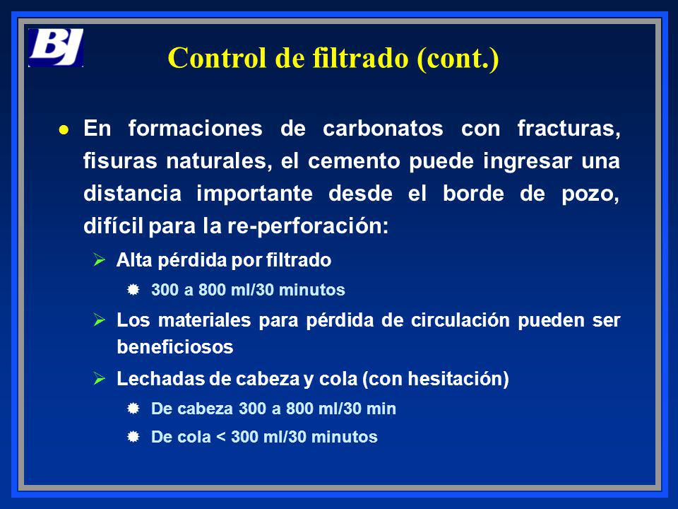 Control de filtrado (cont.)