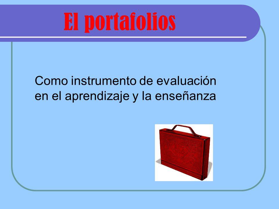 Como instrumento de evaluación en el aprendizaje y la enseñanza