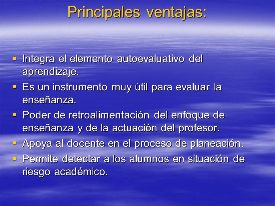 Principales ventajas: