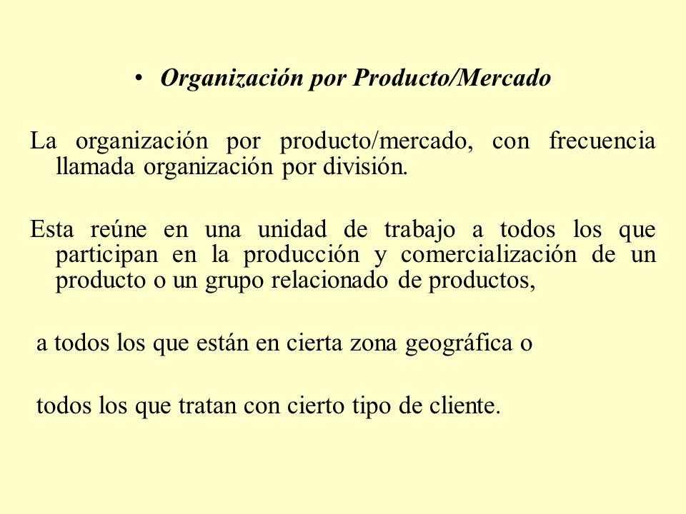 Organización por Producto/Mercado