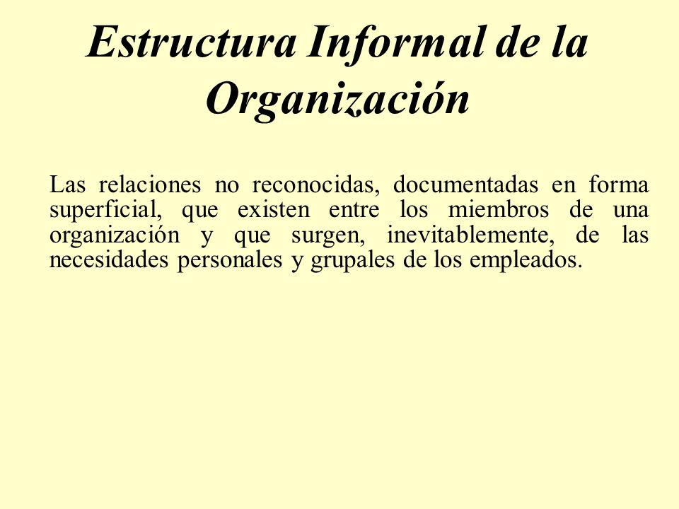 Estructura Informal de la Organización