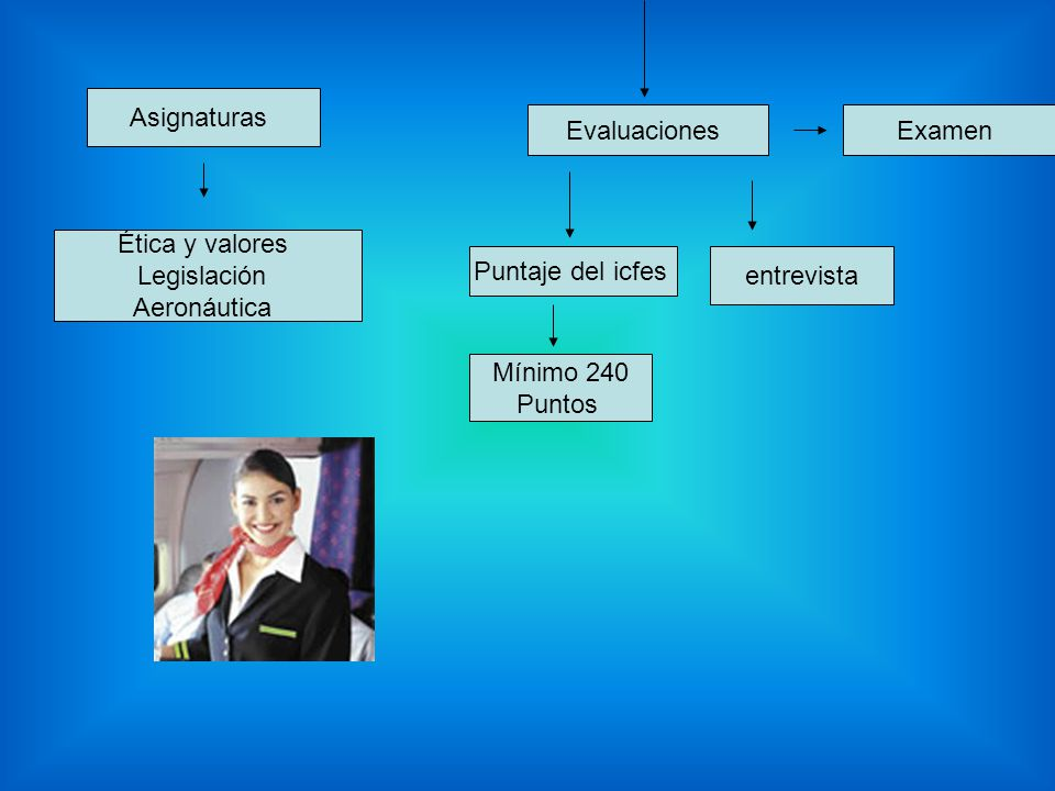 Asignaturas Evaluaciones. Examen. Ética y valores. Legislación. Aeronáutica. Puntaje del icfes.