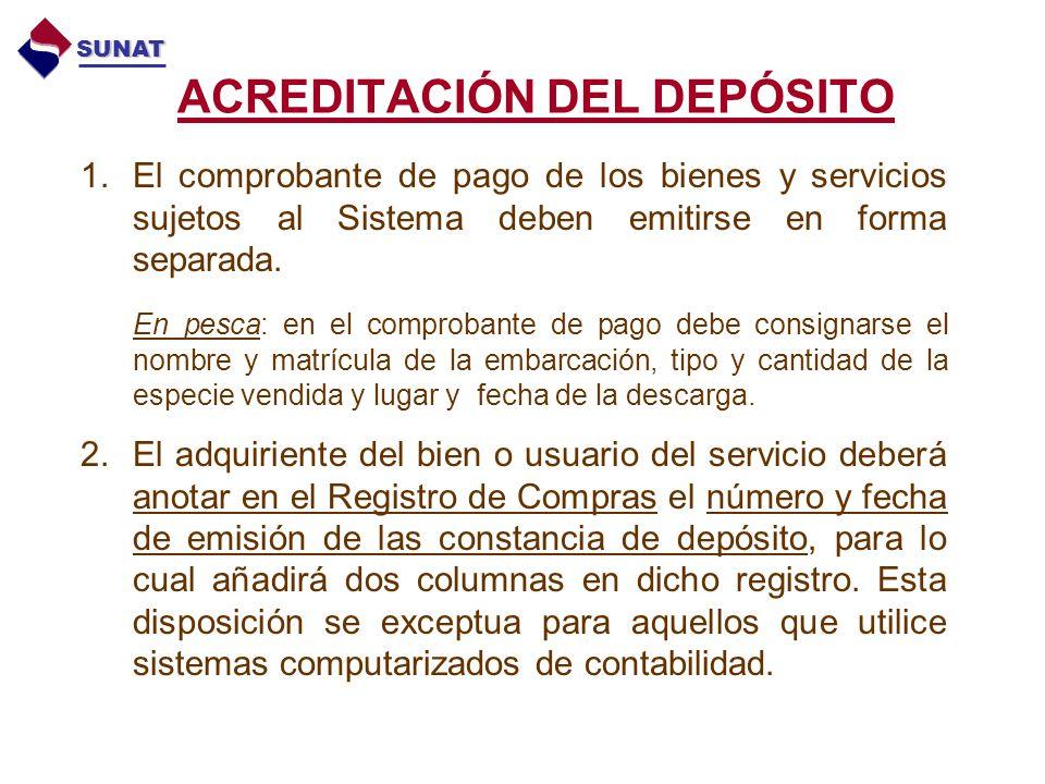 ACREDITACIÓN DEL DEPÓSITO