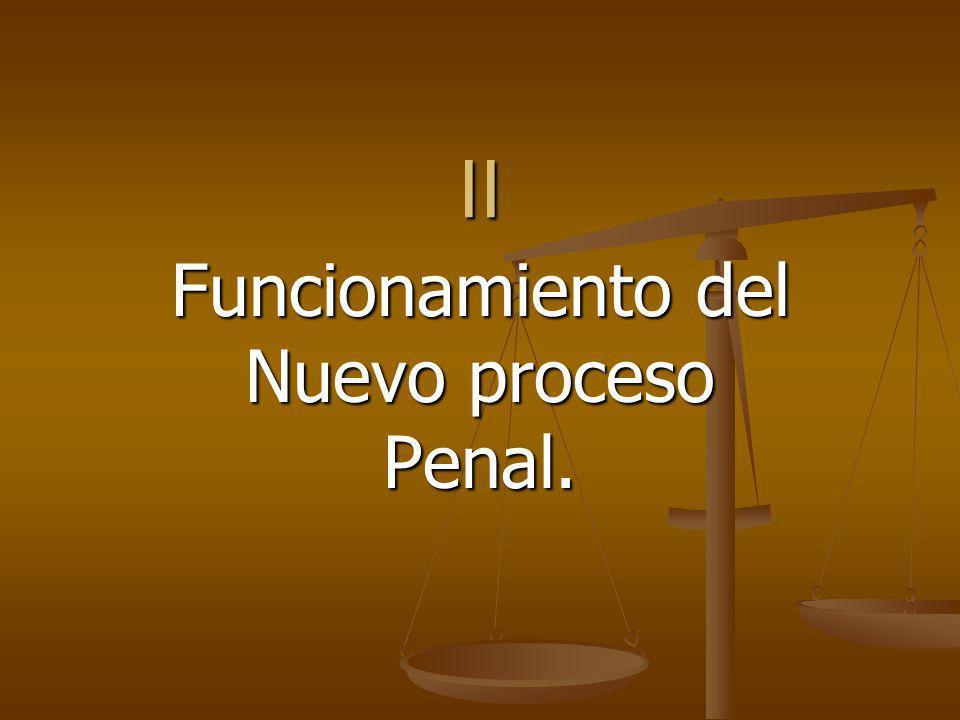 Funcionamiento del Nuevo proceso Penal.
