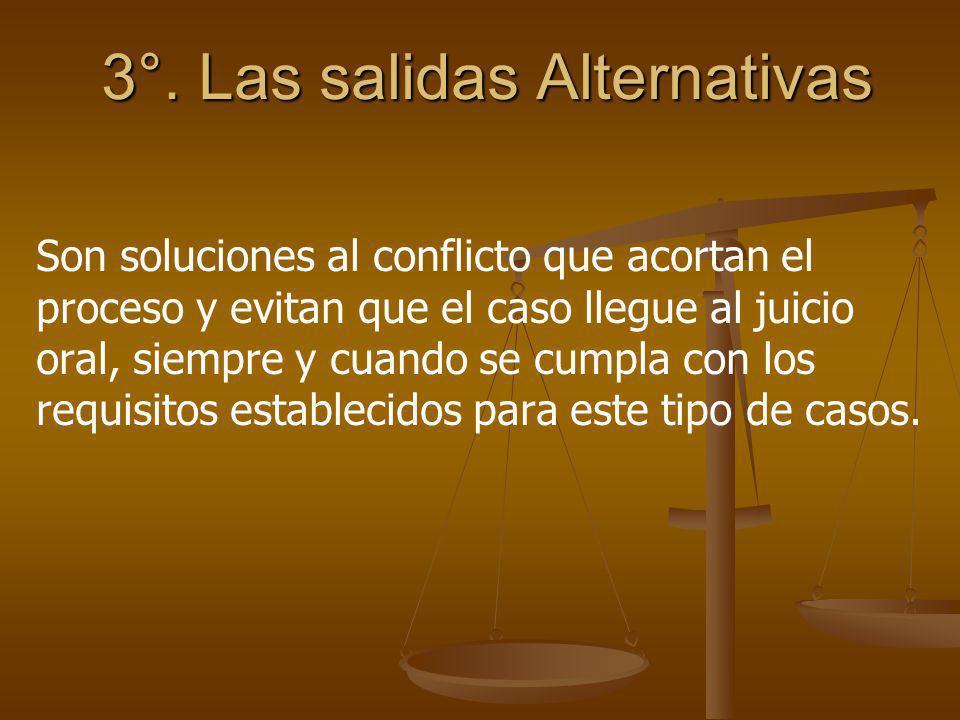 3°. Las salidas Alternativas