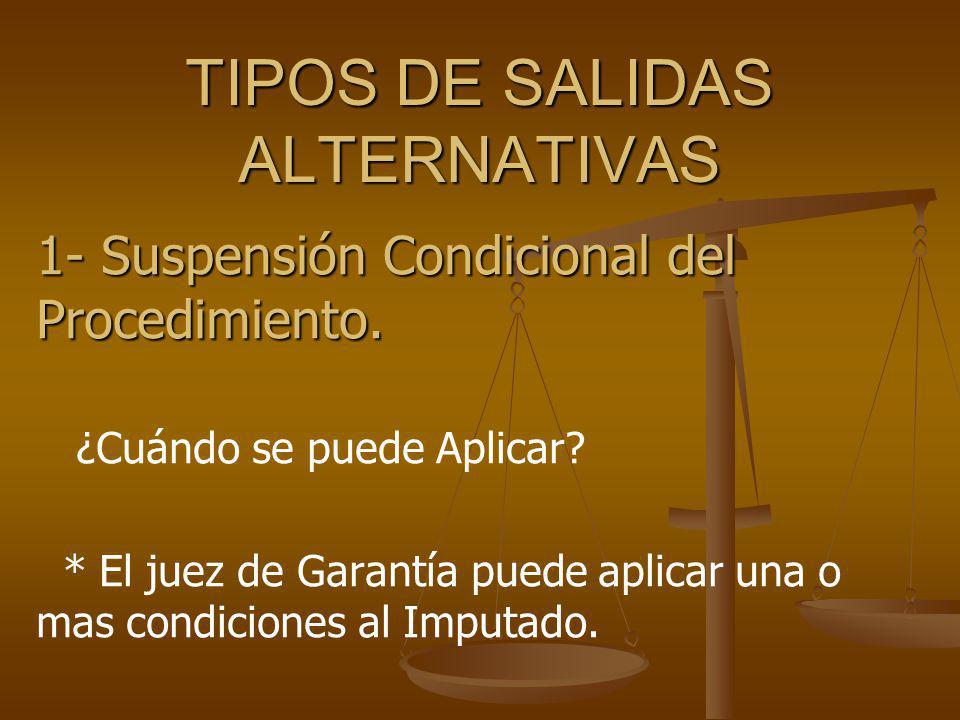 TIPOS DE SALIDAS ALTERNATIVAS