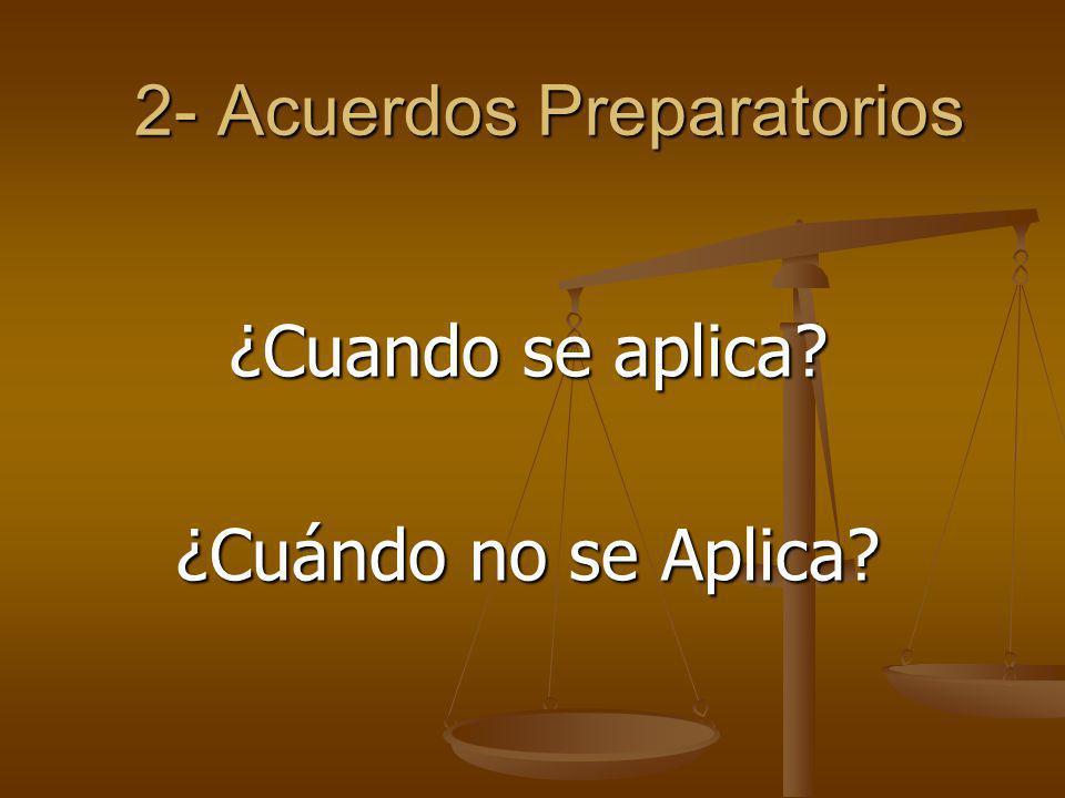 2- Acuerdos Preparatorios