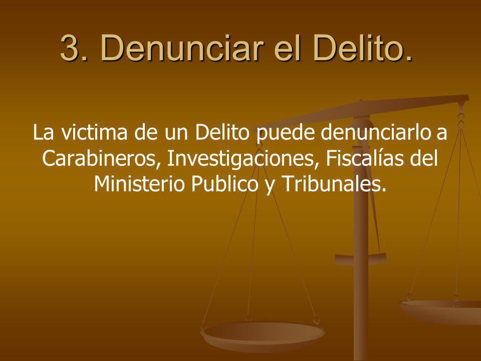 3. Denunciar el Delito.