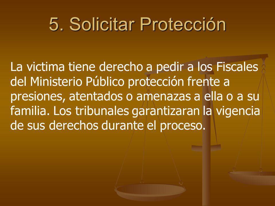 5. Solicitar Protección
