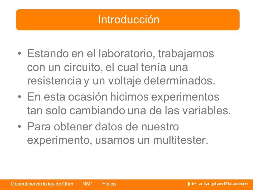 Introducción Estando en el laboratorio, trabajamos con un circuito, el cual tenía una resistencia y un voltaje determinados.