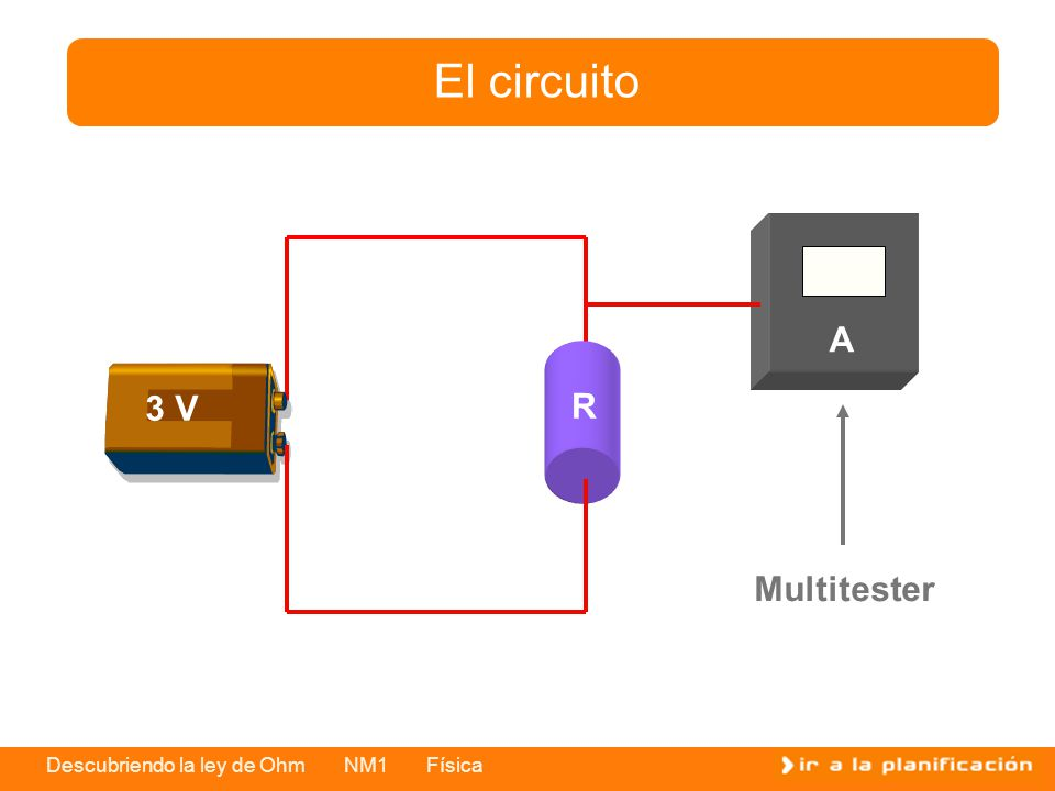 El circuito A R 3 V Multitester