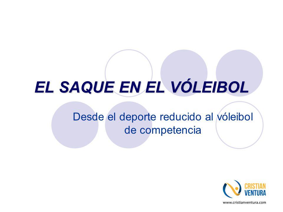 Desde el deporte reducido al vóleibol de competencia