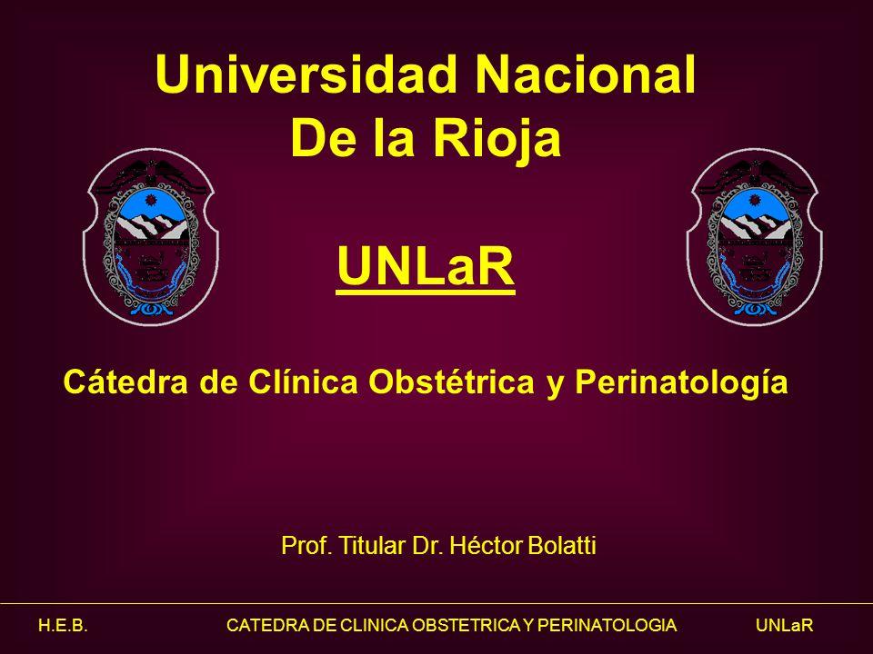 Cátedra de Clínica Obstétrica y Perinatología
