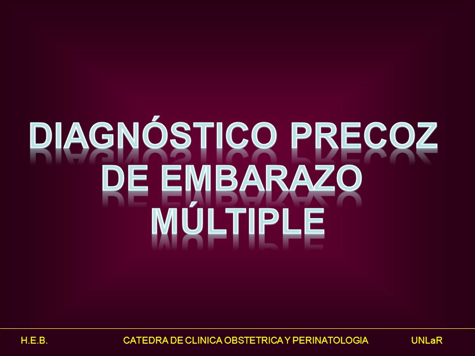 Diagnóstico Precoz de Embarazo Múltiple