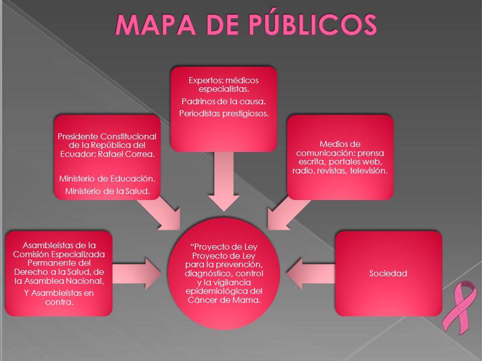 MAPA DE PÚBLICOS Expertos: médicos especialistas.