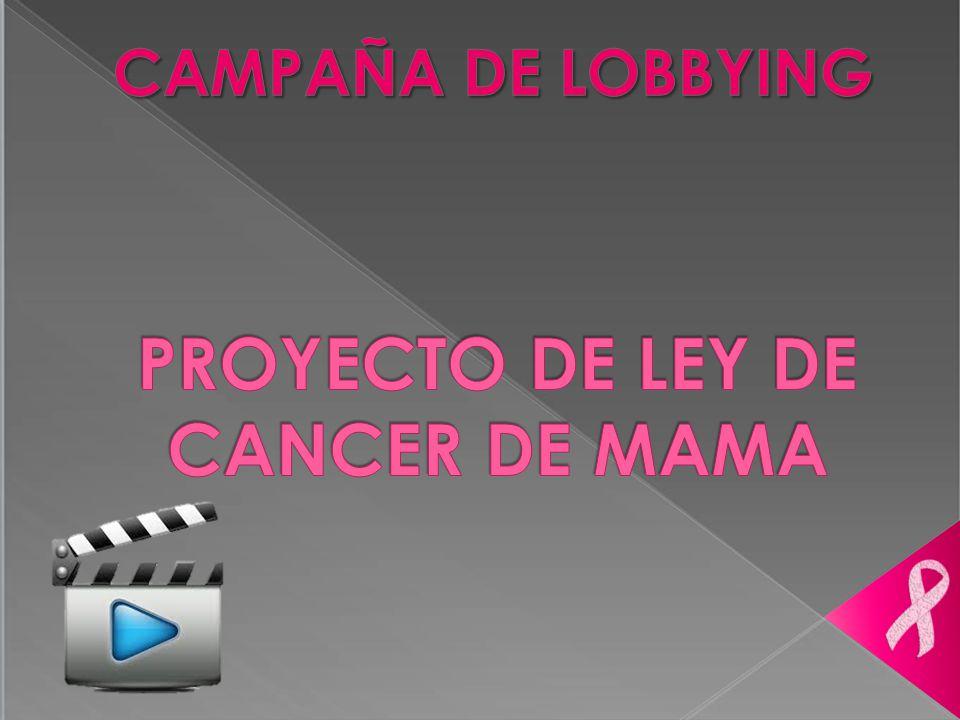 PROYECTO DE LEY DE CANCER DE MAMA