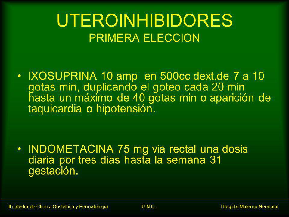 UTEROINHIBIDORES PRIMERA ELECCION