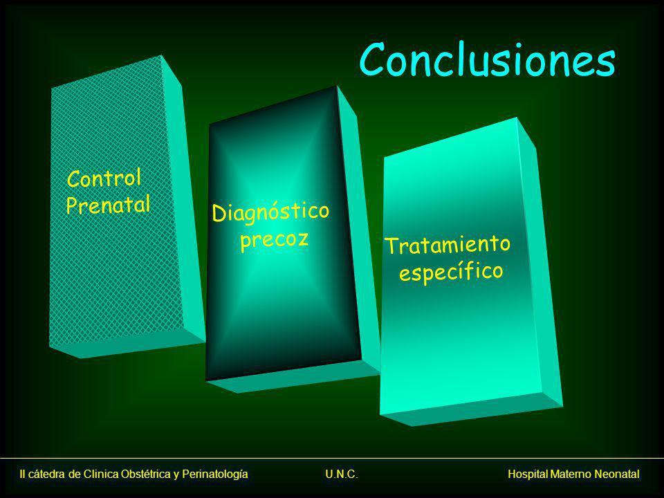 Conclusiones Control Prenatal Diagnóstico precoz Tratamiento