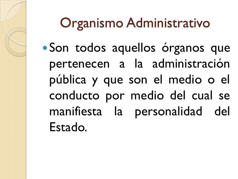 Organismo Administrativo