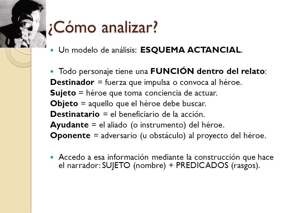¿Cómo analizar Un modelo de análisis: ESQUEMA ACTANCIAL.