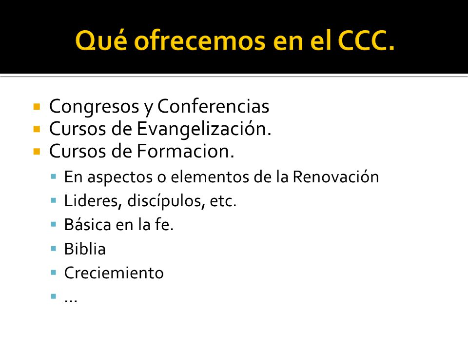 Qué ofrecemos en el CCC. Congresos y Conferencias