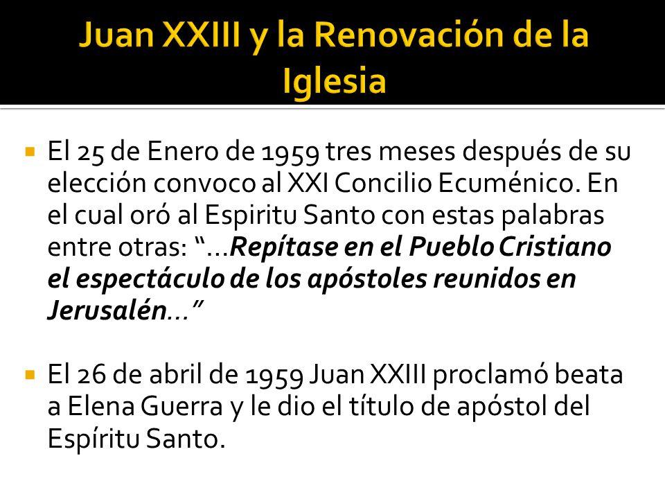 Juan XXIII y la Renovación de la Iglesia
