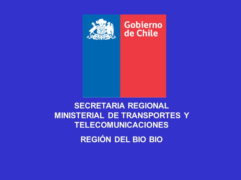 SECRETARIA REGIONAL MINISTERIAL DE TRANSPORTES Y TELECOMUNICACIONES
