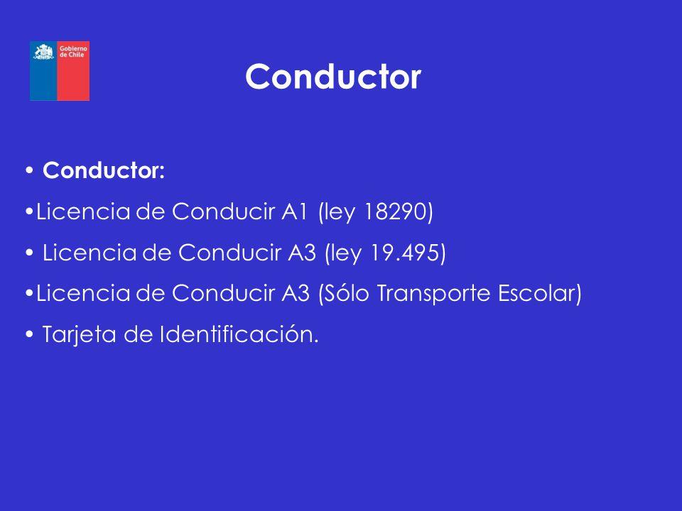 Conductor Conductor: Licencia de Conducir A1 (ley 18290)