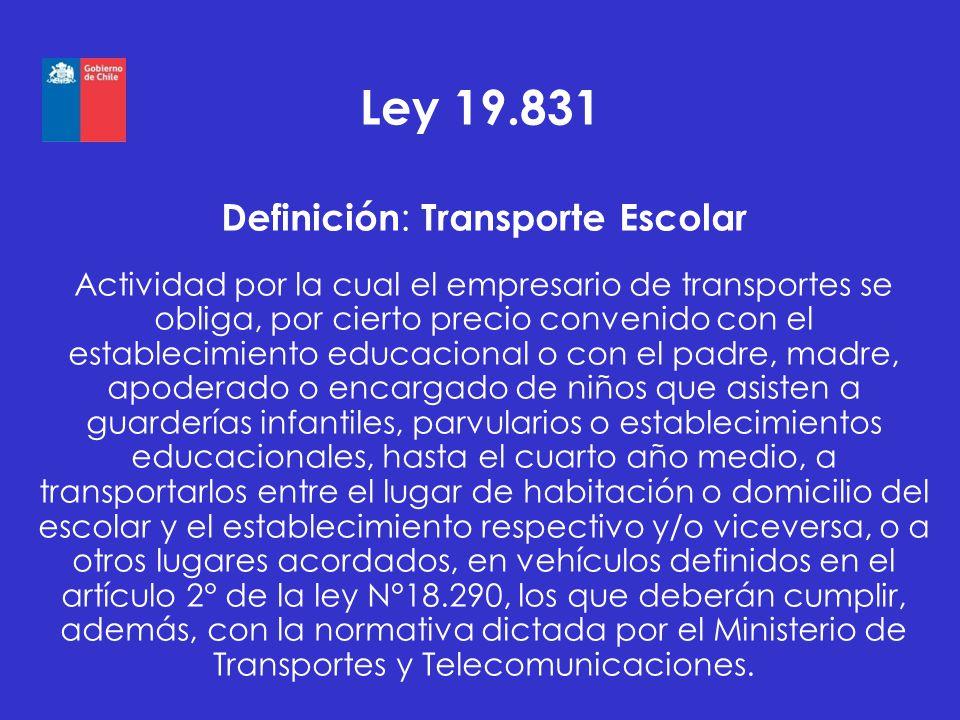 Definición: Transporte Escolar