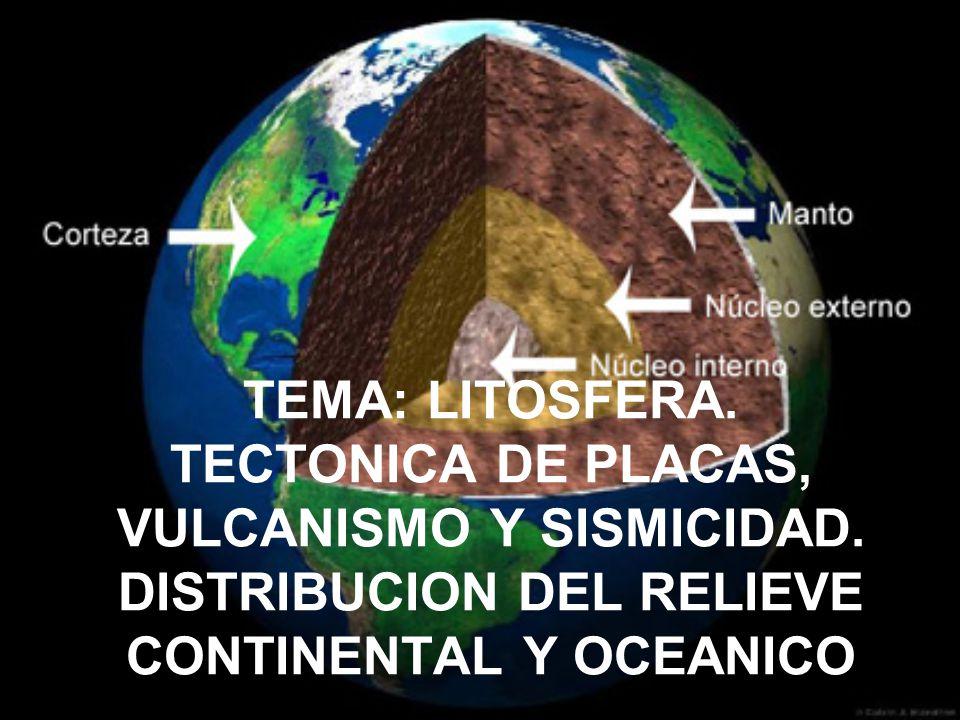 TEMA: LITOSFERA. TECTONICA DE PLACAS, VULCANISMO Y SISMICIDAD