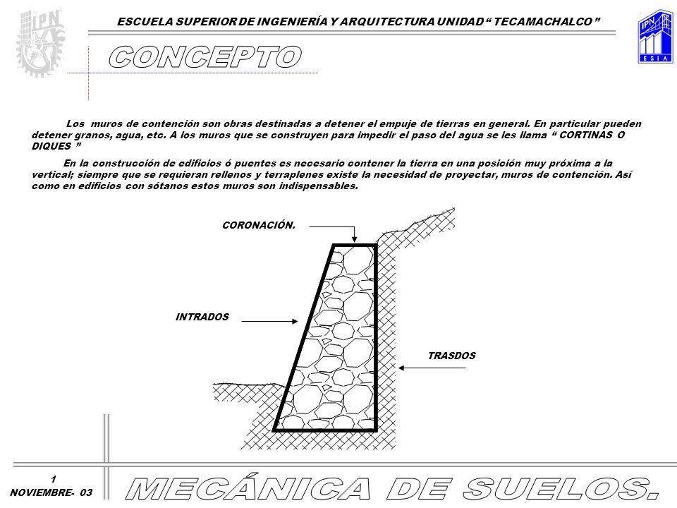 CONCEPTO MECÁNICA DE SUELOS.