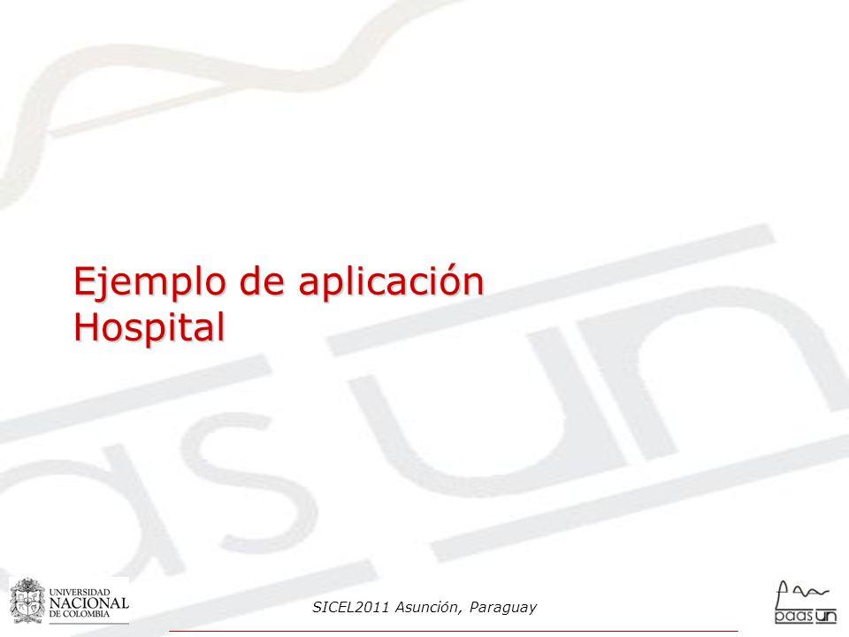 Ejemplo de aplicación Hospital