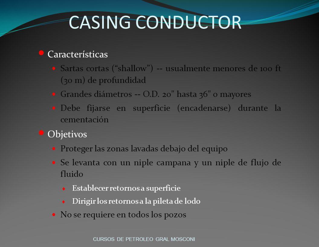 CASING CONDUCTOR Características Objetivos