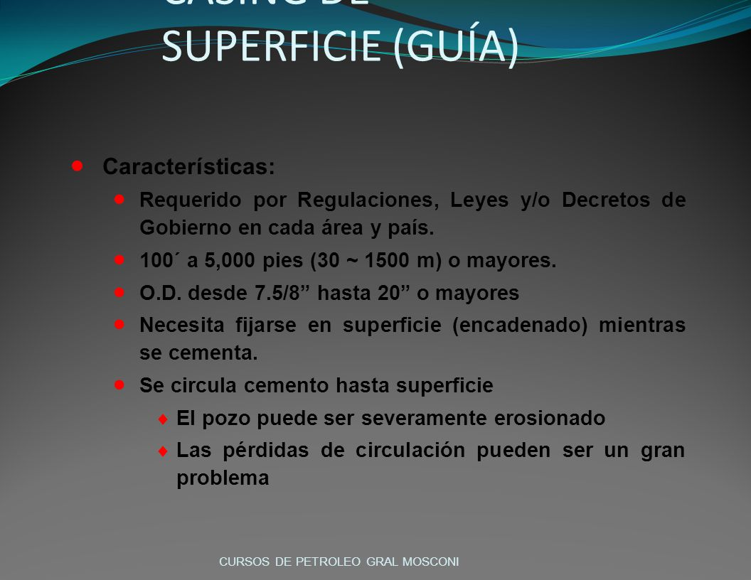 CASING DE SUPERFICIE (GUÍA)