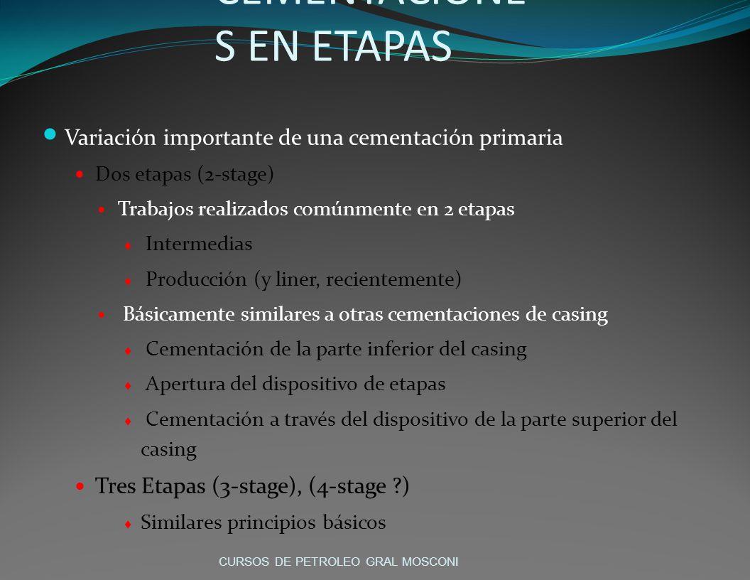 CEMENTACIONES EN ETAPAS