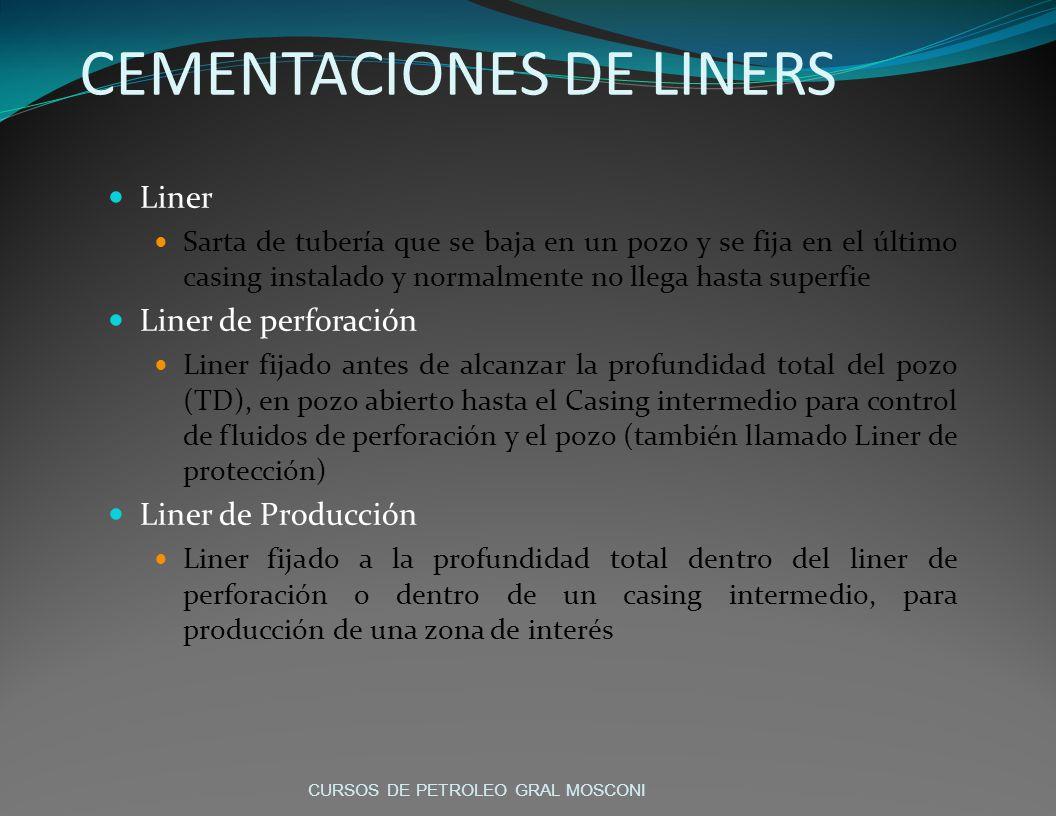 CEMENTACIONES DE LINERS