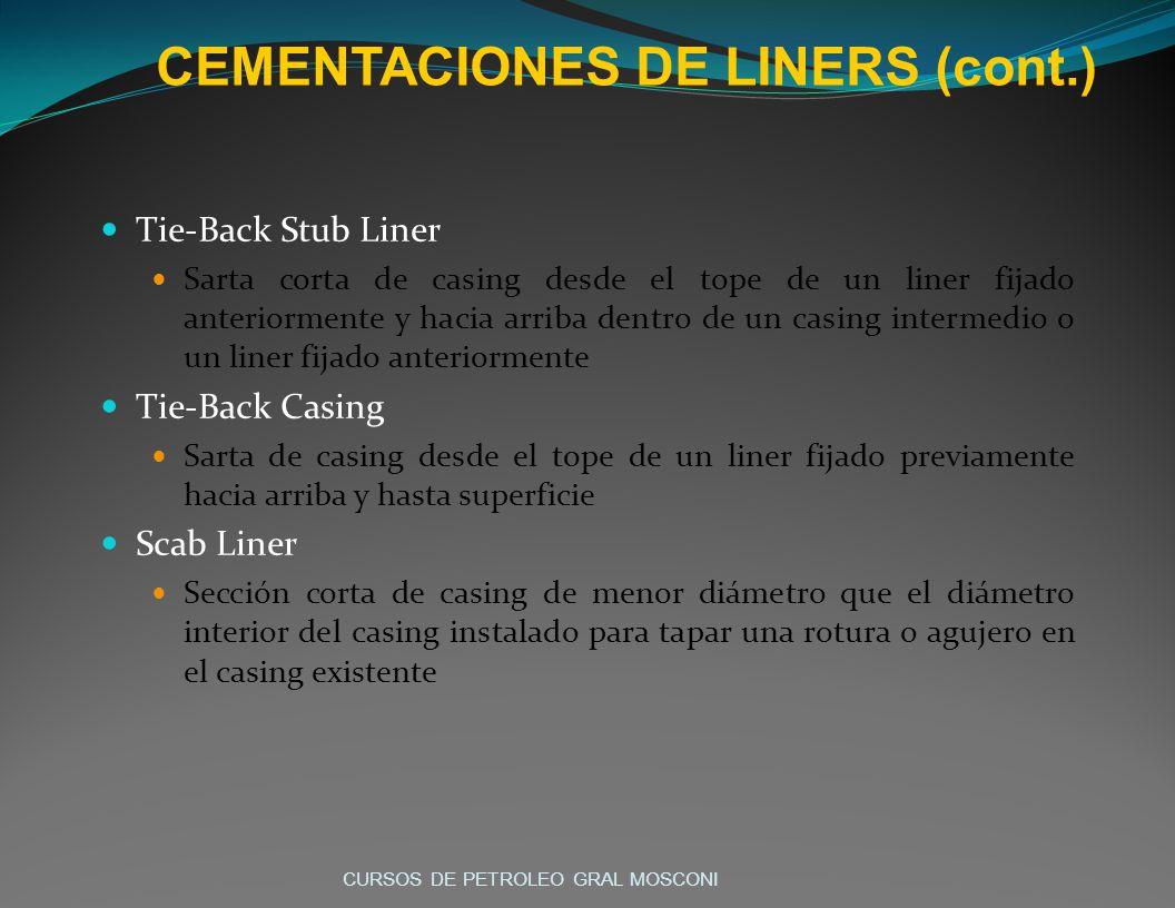 CEMENTACIONES DE LINERS (cont.)