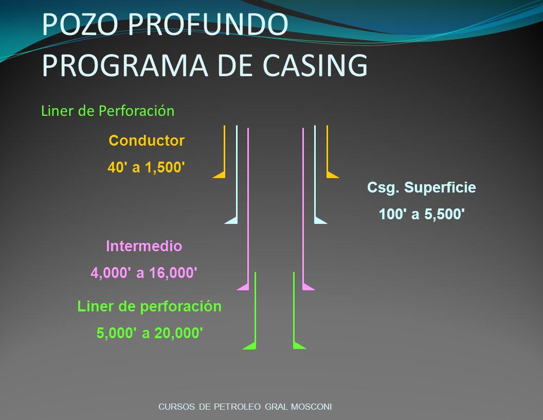 POZO PROFUNDO PROGRAMA DE CASING Liner de Perforación