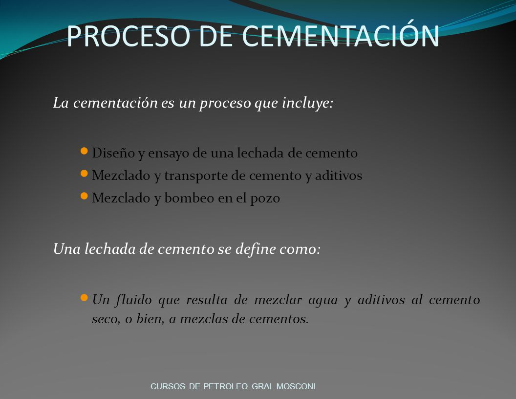 PROCESO DE CEMENTACIÓN