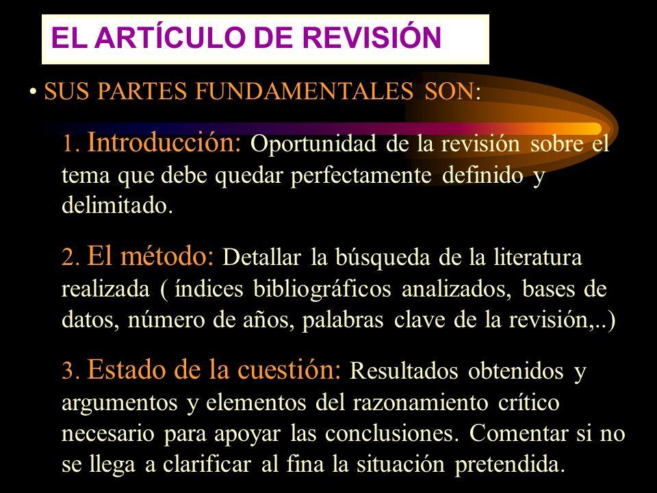 EL ARTÍCULO DE REVISIÓN