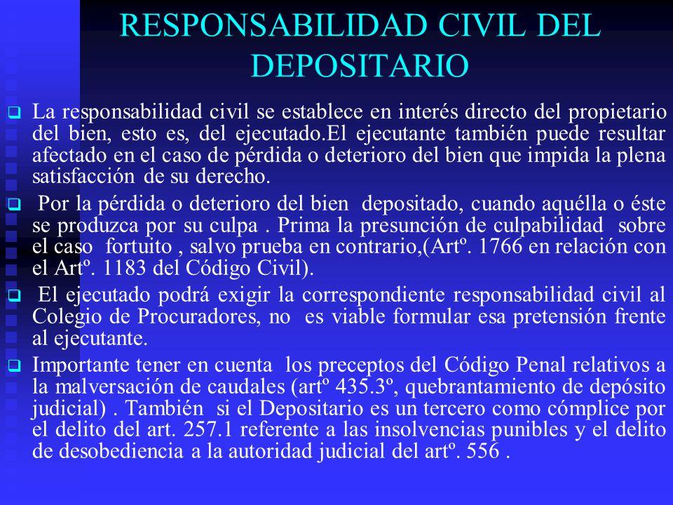 RESPONSABILIDAD CIVIL DEL DEPOSITARIO