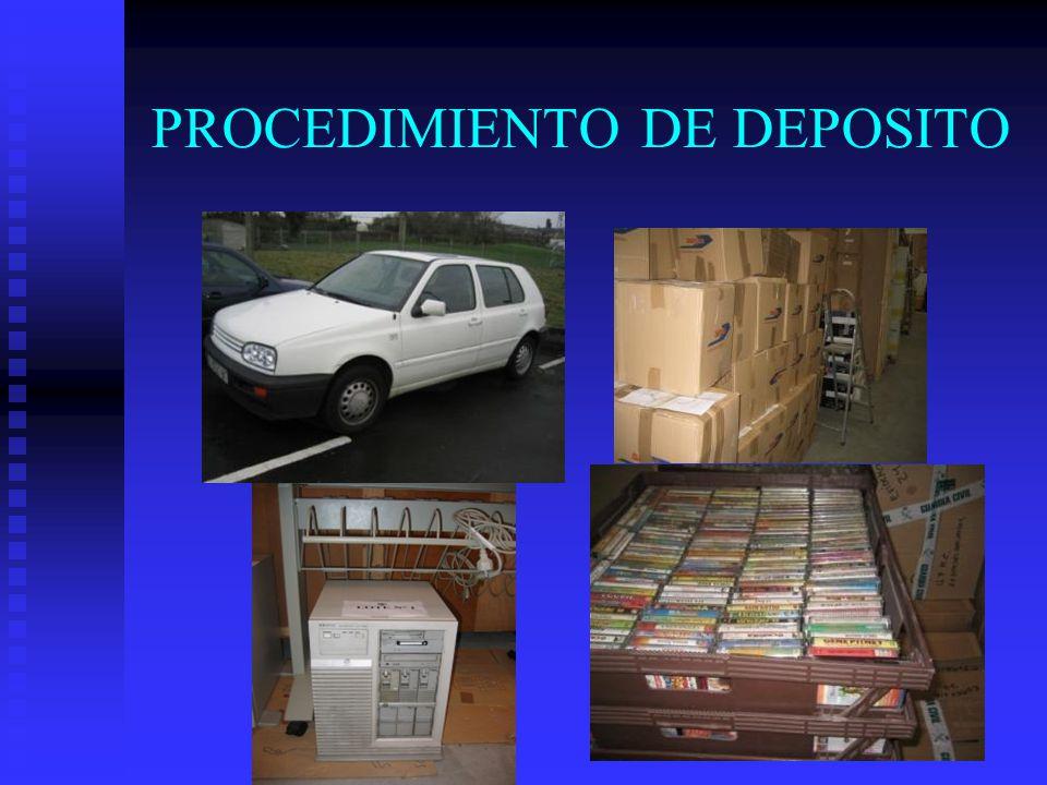 PROCEDIMIENTO DE DEPOSITO