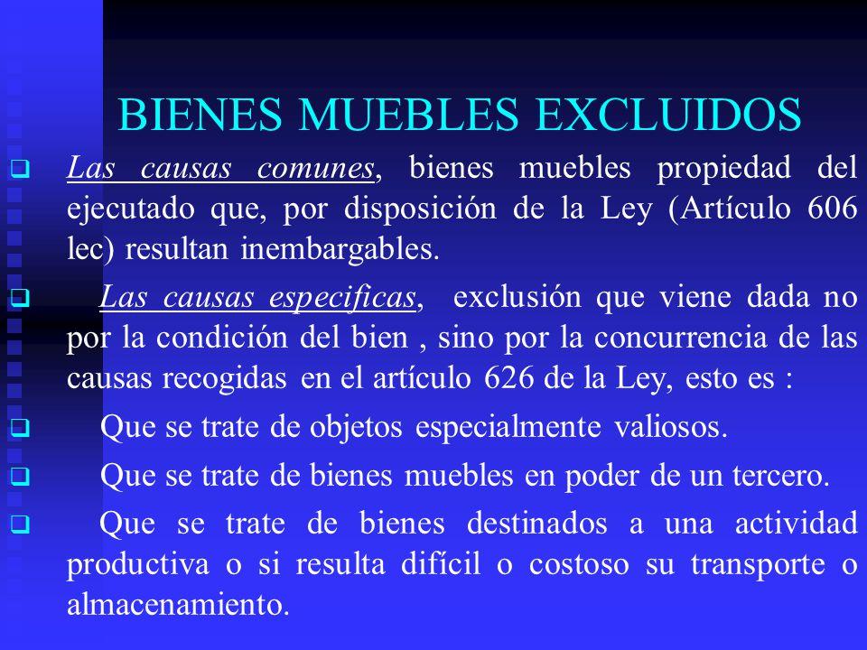 BIENES MUEBLES EXCLUIDOS