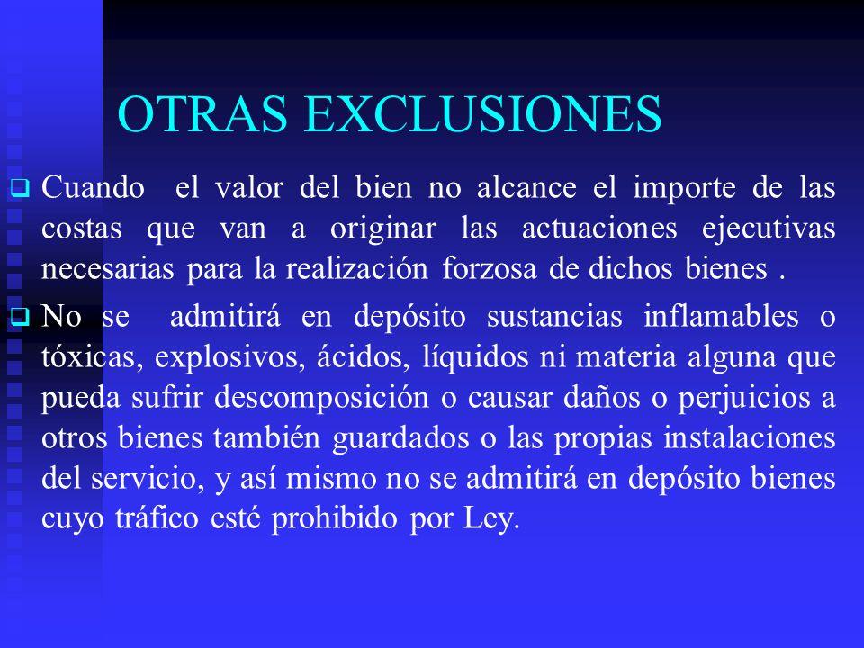 OTRAS EXCLUSIONES