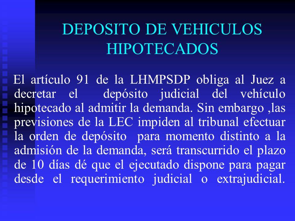 DEPOSITO DE VEHICULOS HIPOTECADOS